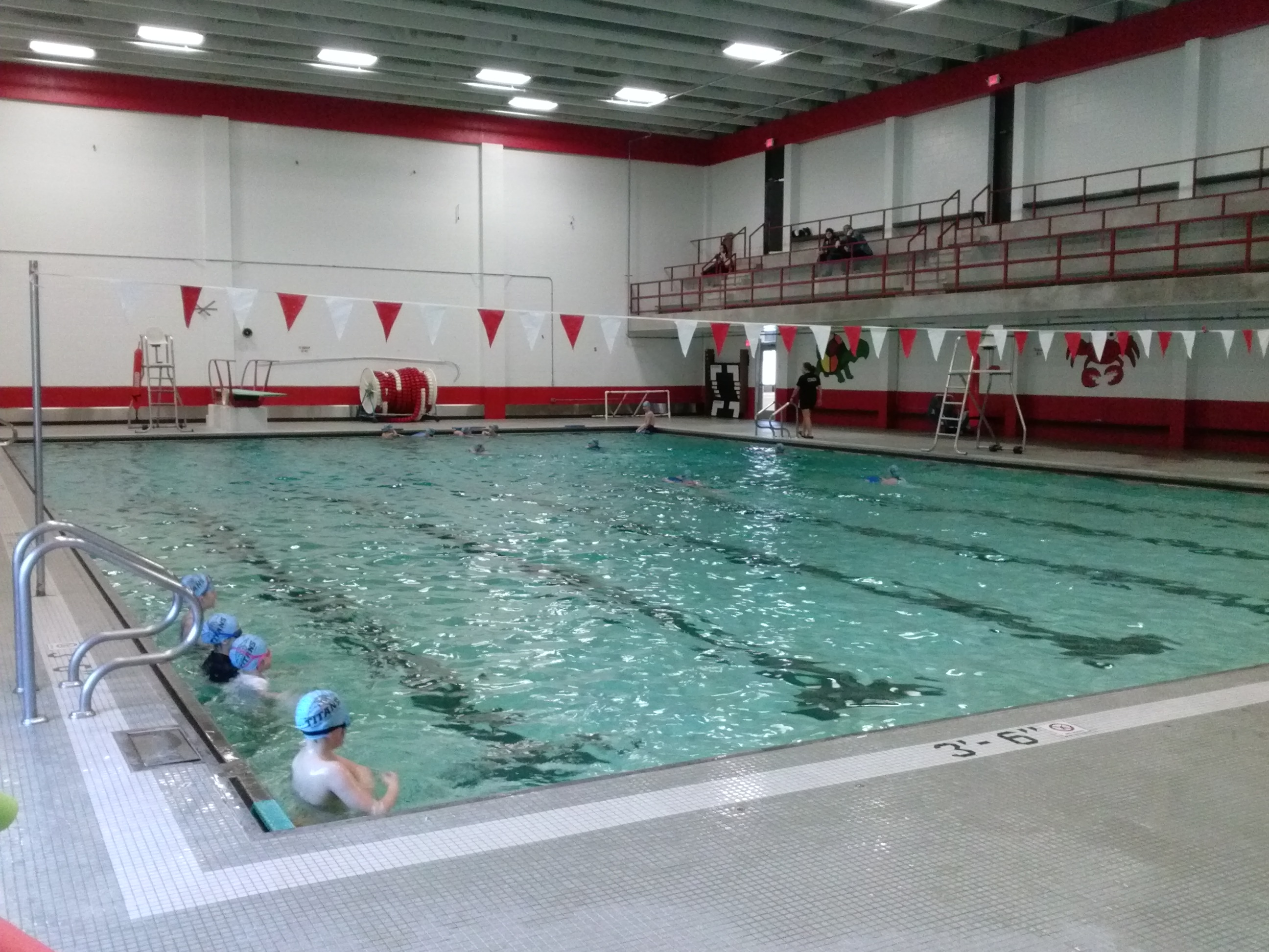 Indoor School Swimming Pool aquatics - swim lessons, aqua fitness, fun swim events - class